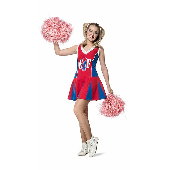 Cheerleader Kostüm Damen Cheerleader-Kleid Damen-Kostüm