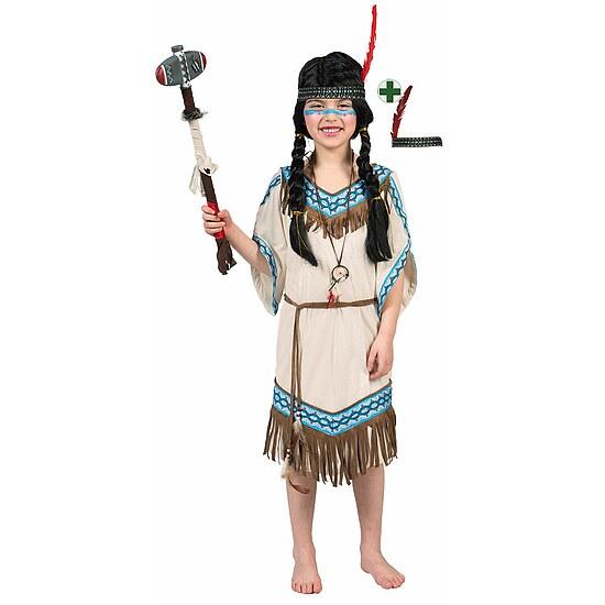indianer kost m kinder indianerin mit stirnband pocahontas. Black Bedroom Furniture Sets. Home Design Ideas