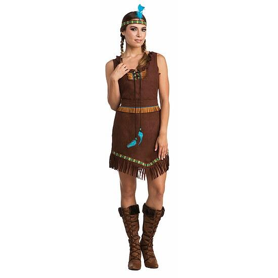indianer apache damen kost m indianerin kost m dunkel. Black Bedroom Furniture Sets. Home Design Ideas