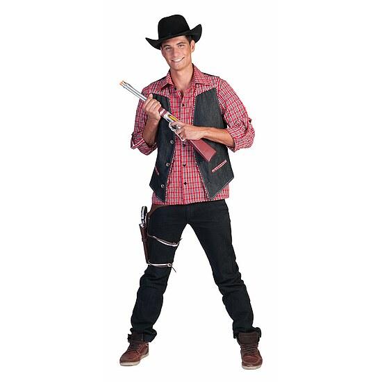 cowboy kost m herren cowboy weste jeans weste western kost me g nstige karnevalskost me von. Black Bedroom Furniture Sets. Home Design Ideas