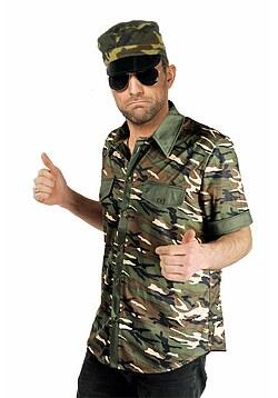 89589038b3 Soldat Kostüm Hemd Soldat Militär Camouflage Uniform Herren-Kostüm