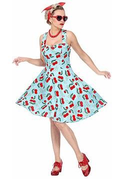 82276de1b8cb8c 50er Jahre Kostüm Damen Rock n Roll Kleid mit Petticoat