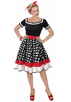6bbcb2faf0165b 50er Jahre Kostüm Damen Rockabilly Kleid mit Petticoat