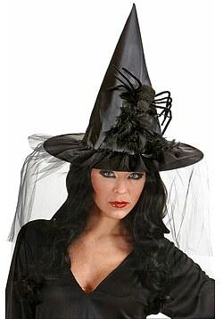 Spinnen Hut Minihut Spinne Schwarze Witwe Zylinder Halloween Kopfbedeckung Hexe