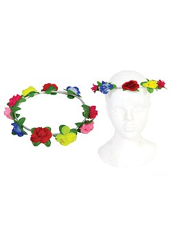Stirnband Blumen Flower Power