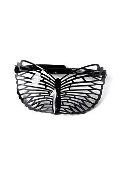 Brille Maske black Butterfly