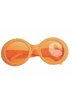 Brille Disco Glitter orange