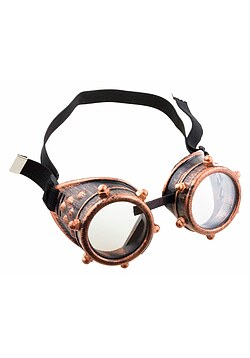 Brille Steampunk bronze