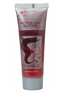 Action-Gel Glitter rot