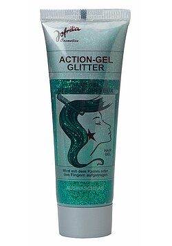 Action-Gel Glitter grün