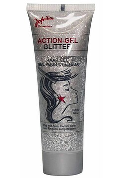 Action-Gel Glitter silber