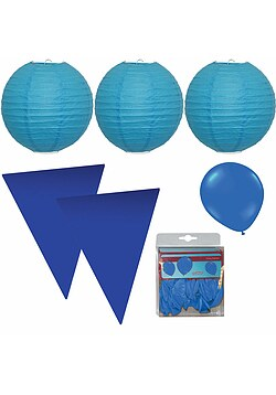 Party Raumdeko Garten Set XXL blau
