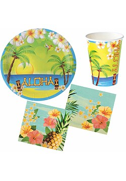 Party Set Hawaii Sommer Aloha 28 Teile
