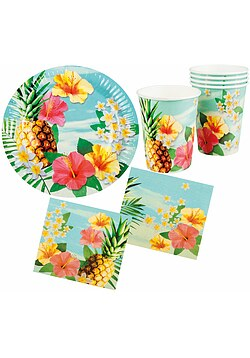 Party Set Hawaii Blume Hibiskus 24 Teile