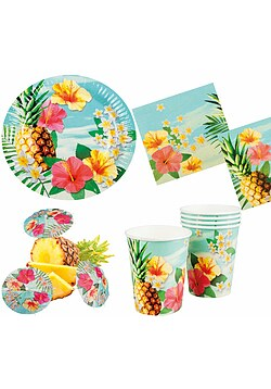 Party Set XL Hawaii Blume Hibiskus 30 Teile